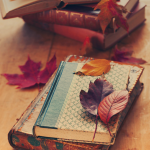 books and leaves